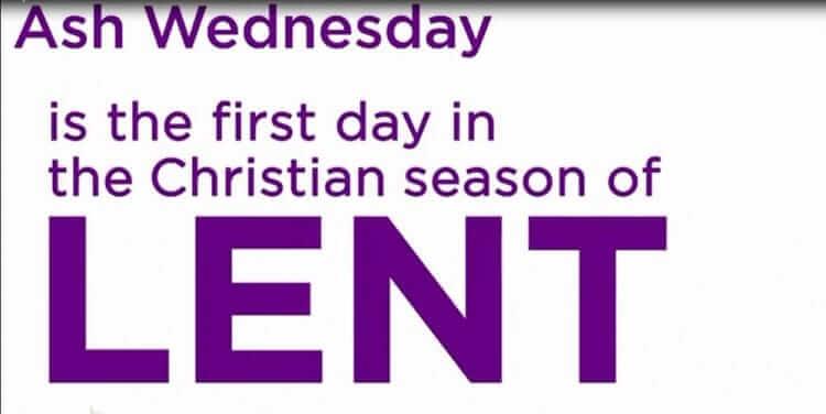 Preparing for the upcoming season of Lent