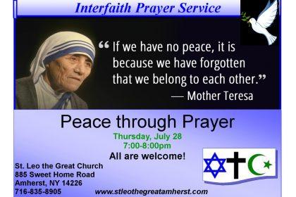 Interfaith Prayer Service Photo Gallery