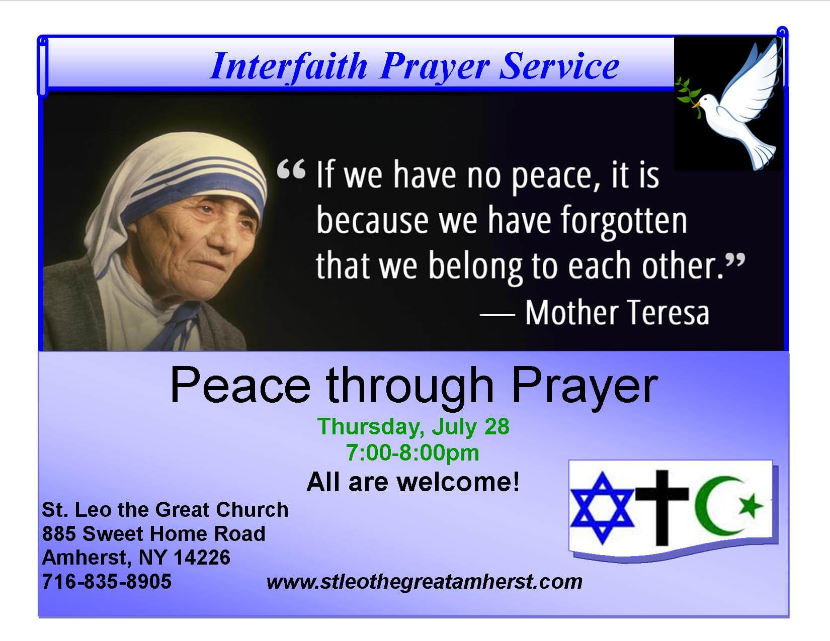 Interfaith Prayer Service Photo Gallery
