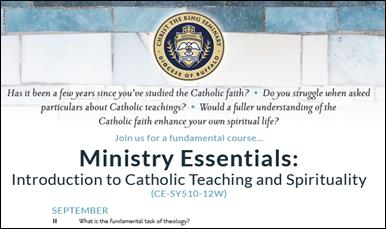Ministry Essentials: Intro to Catholic Teachings & Spirituality