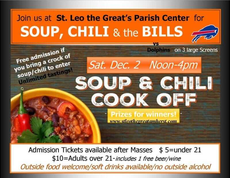 Soup & Chili Cookoff with the Bills!