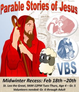 Parable Stories of Jesus Midwinter Recess Vacation Bible School